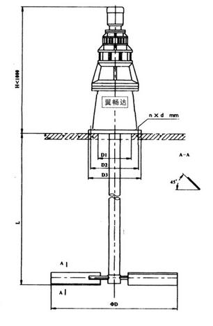 jbj型桨式搅拌机结构图